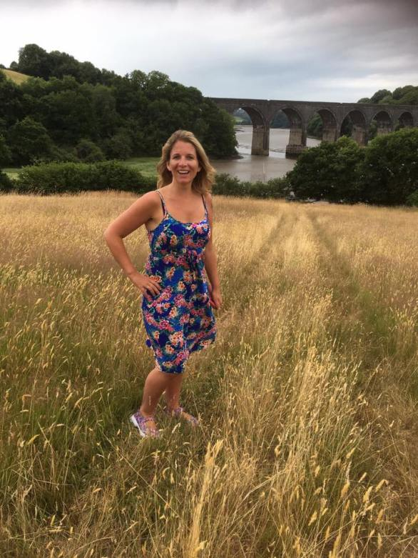 Lynda by river